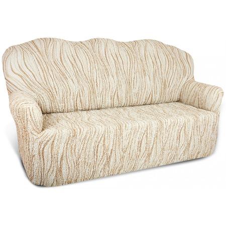 Купить Натяжной чехол на четырехместный диван Еврочехол «Виста. Элегант Крем»