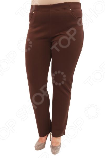 Брюки Лауме-Лайн «Престиж». Цвет: кофейный брюки лауме лайн стиль цвет серебряный