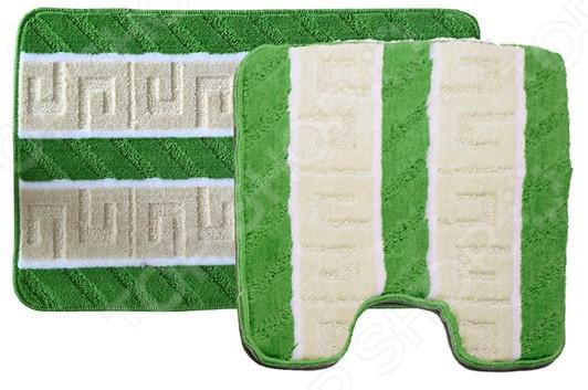 Комплект ковриков для ванной и туалета Dasch «Орнамент» коврик круглый для ванной dasch орнелла