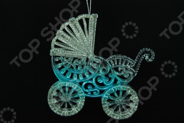 Новогоднее украшение Crystal Deco «Коляска» новогоднее украшение crystal deco шар перламутровый