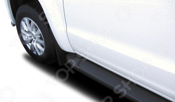 Комплект защиты штатных порогов Arbori Optima Black 2000 для Volkswagen Amarok, 2016 комплект защиты штатных порогов arbori optima 1700 для mitsubishi asx 2014