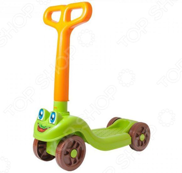 Самокат четырехколесный ТехноК для малышей Самокат четырехколесный ТехноК 3473 /Зеленый