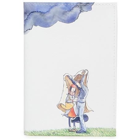 Купить Обложка для паспорта кожаная Mitya Veselkov «Влюбленные и туча»
