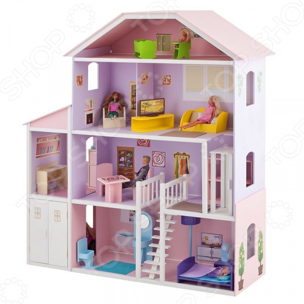 Кукольный дом с аксессуарами PAREMO «Фантазия»