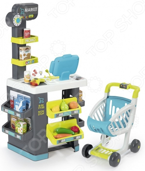Игровой набор для ребенка Smoby City Market «Супермаркет с тележкой»