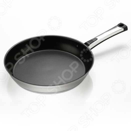 Сковорода Delimano Astoria классическая сковорода с элегантным дизайном. Изготовлена из высококачественной стали 18 10, на которую предоставляется гарантия 10 лет. Подходит для всех видов плит: электрических, стеклокерамических, газовых и индукционных. Внутри покрыта особо устойчивым антипригарным покрытием Eterna Whitford, благодаря которому еда не пригорает, а сковородку легко мыть, в том числе и в посудомоечной машине. Сковорода Delimano Astoria прослужит долгие годы.