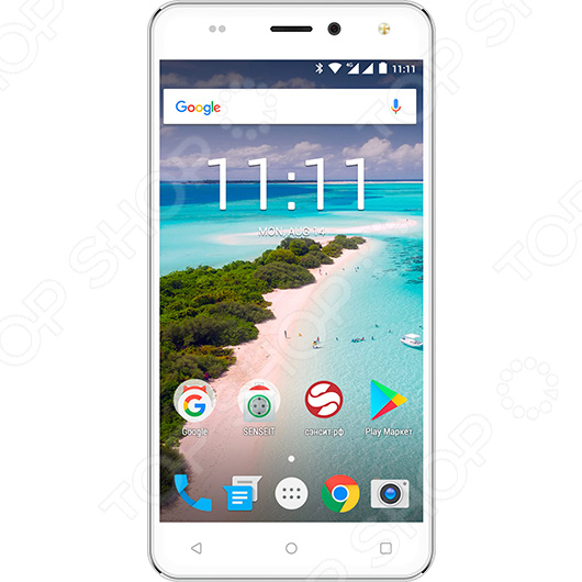 Смартфон SENSEIT T250 8Gb смартфон senseit t250 silver