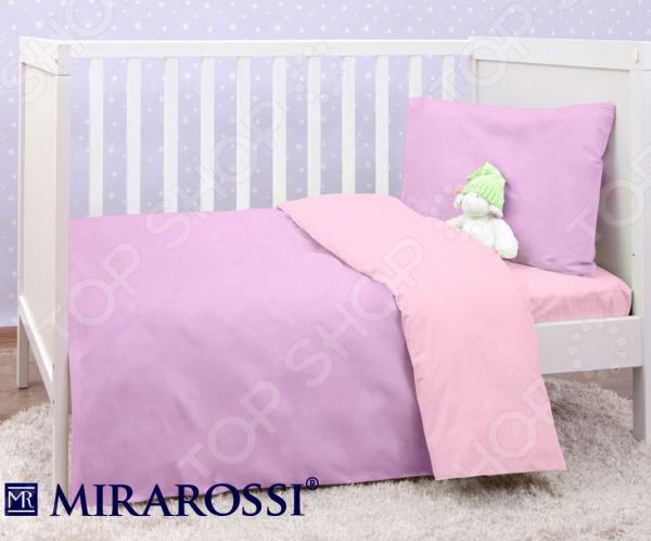 Детский комплект постельного белья MIRAROSSI Ninna Nanna Viola комплект постельного белья mirarossi ninna nanna peach 3 пр