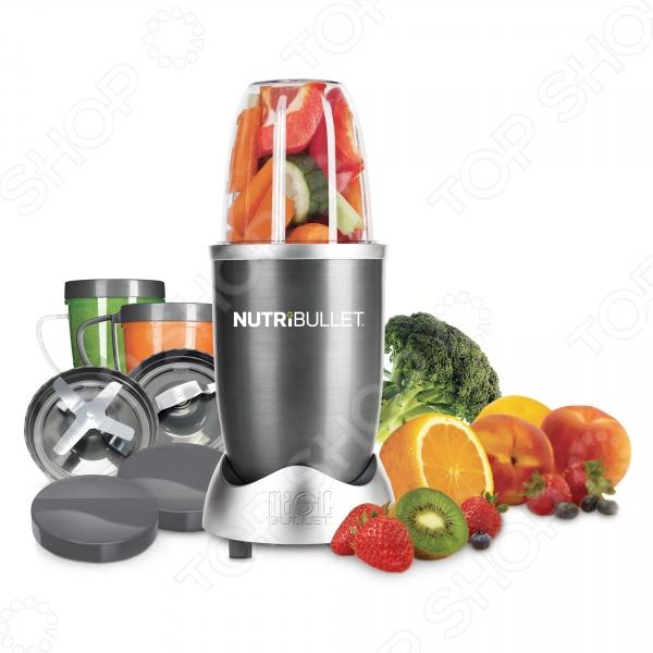 Раскройте весь потенциал того, что вы едите с Nutribullet! Ваша потребность в ежедневном употреблении свежих овощей и фруктов остается неудовлетворенной Чувствуете постоянную усталость, отсутствие энергии и постоянную тягу к активной жизни Если вы живете в городе, то знаете, что современный ритм жизни не дает шанса расслабиться и даже основательно пообедать, а об ежедневном завтраке уже давно пришлось забыть. Даже если вы сможете выделить время и полакомиться фруктами, организм не сможет получить все полезные витамины и минералы. Для того, чтобы получать все необходимые питательные вещества вам необходимо постоянно извлекать из еды максимум полезных веществ-фитонутриентов.  Технология экстракции нутриентов позволяет вам извлечь максимум пользы из еды Распространенное мнение о том, что систематическое употребление здоровой пищи благотворно влияет на организм, не всегда верно, ведь организм не всегда способен извлечь и усвоить все полезные вещества. Плотная оболочка лесных орехов и миндаля, большинство фруктов и листья салата слишком тяжелоусваемые, а это препятствует извлечению максимума витамином и микроэлементов.  С нашим продуктом вы сможете забыть об этих проблемах! Необходимо тщательно измельчить желаемый продукт и ваш организм с легкостью усвоит все витамины и микроэлементы. Используйте экстрактор нутриентов NutriBullet и вы получите максимум пользы из любимых фруктов! Экстрактор Nutribullet пришло время дать организму всё, что ему нужно! NutriBullet это не просто блендер или соковыжималка, которой может похвастаться любая домохозяйка. NutriBullet это исключительный пищевой экстрактор, который проложит дорогу в мир активного образа жизни и здорового питания. С ним вы сможете извлечь все полезные вещества даже из самого маленького лесного орешка!  Важные микроэлементы, которые содержатся в продуктах приходится принимать с таблетками, ведь их невозможно получить просто измельчая в блендере или при попытке отжать сок. Чтобы добраться до столь полезных нутриентов в