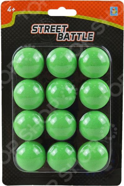 Мягкие шарики для игрового оружия 1 Toy Street Battle Т13650