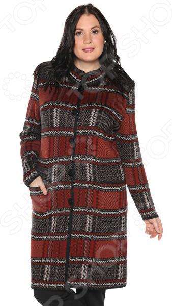 Пальто Milana Style «Хозяйка осени». Цвет: терракотовый платье milana style milana style mi038ewxjv28