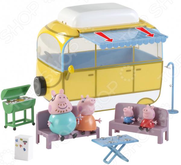 Игровой набор с фигурками Peppa Pig «Кемпинг Пеппы» всё для лепки свинка пеппа peppa pig набор для лепки на даче у пеппы