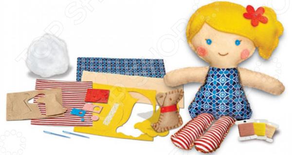 Набор для изготовления куклы 4M «Школа шитья. Кукла и щенок»