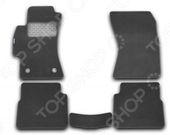 Комплект ковриков в салон автомобиля Novline-Autofamily Subaru Impreza 2010 хэтчбек. Цвет: черный