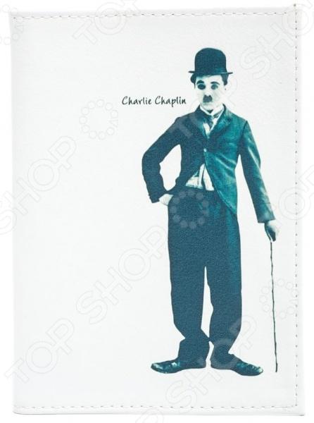 цена на Обложка для паспорта кожаная Mitya Veselkov «Чарли Чаплин»