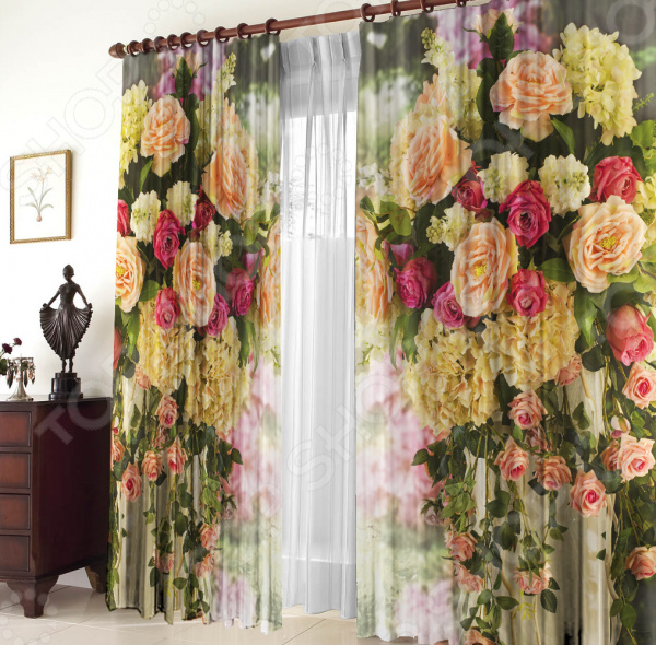 Комплект штор «Вальс цветов»