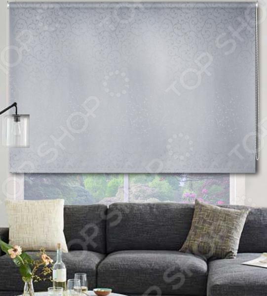 Рулонная штора Эскар «Агат». Цвет: серый
