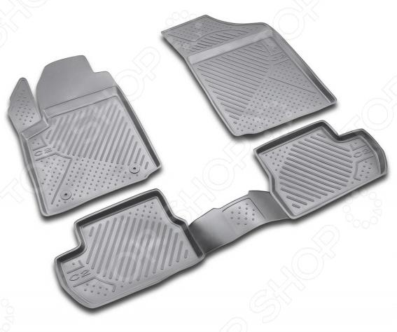 Комплект ковриков в салон автомобиля Novline-Autofamily Citroen C2 2003-2008 / 2008