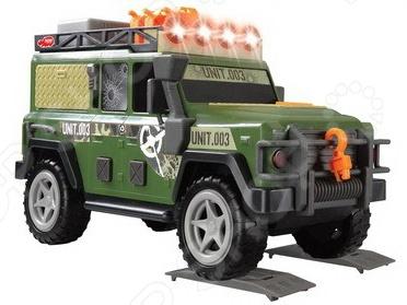 Машинка со светозвуковыми эффектами Dickie «Военный внедорожник»