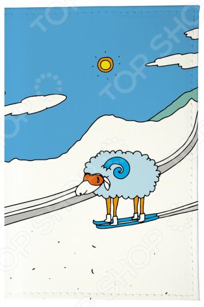 Обложка для автодокументов Mitya Veselkov «Овечка в горах» обложка для автодокументов кожаная mitya veselkov овечка на саночках