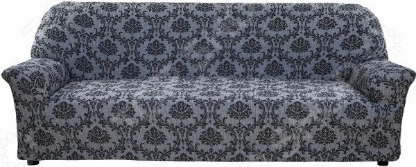 Натяжной чехол на четырехместный диван Еврочехол «Мадрид» как купить мебель николаев бу