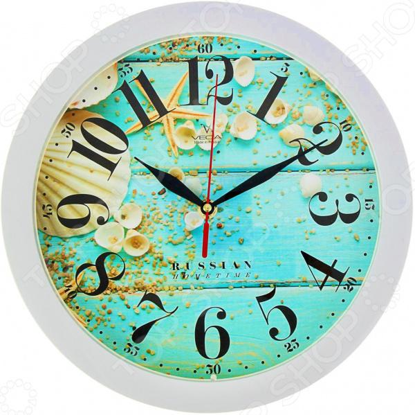 Часы настенные Вега П 1-7/7-250 «Ракушки» runail дизайн для ногтей ракушки 0284