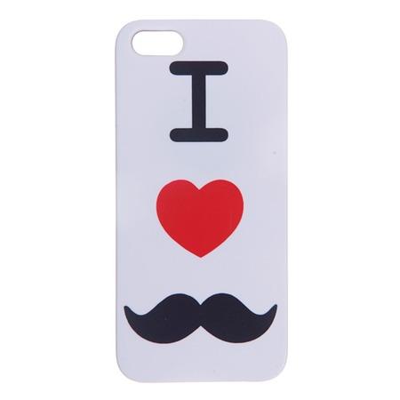 Чехол для iPhone 5 Mitya Veselkov I love «усики» IP5