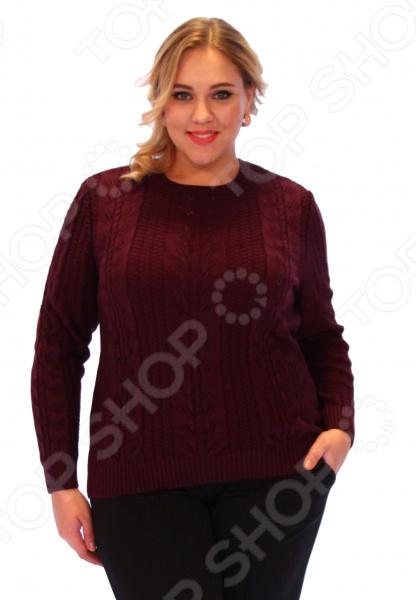 Джемпер Milana Style «Нимфа». Цвет: бордовый