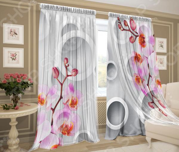 Фотокомплект: тюль и шторы ТамиТекс «Пафос»