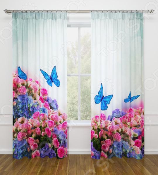 Фотошторы Стильный дом «Бабочки в цветах» шторы стильный дом фотошторы альстромерия