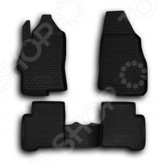 Комплект ковриков в салон автомобиля Novline-Autofamily Daewoo Matiz 2000. Цвет: черный - фото 5