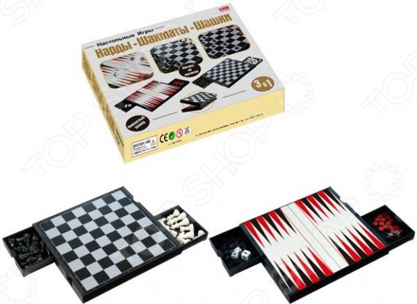 Набор 3 в 1 магнитный: шахматы, шашки, нарды Наша Игрушка 951300 книжки игрушки bondibon магнитный театр наша дача 52 магнита