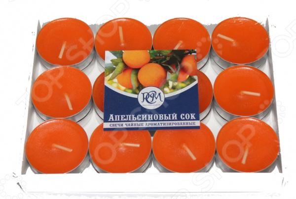 Набор свечей чайных Русская свечная мануфактура «Апельсиновый Сок»