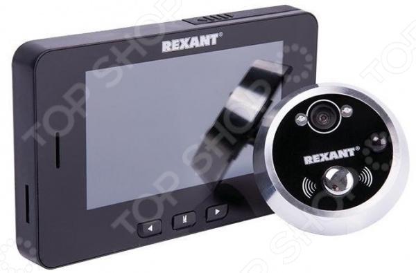 Глазок дверной с функцией фото и видеофиксации по движению Rexant 45-0249