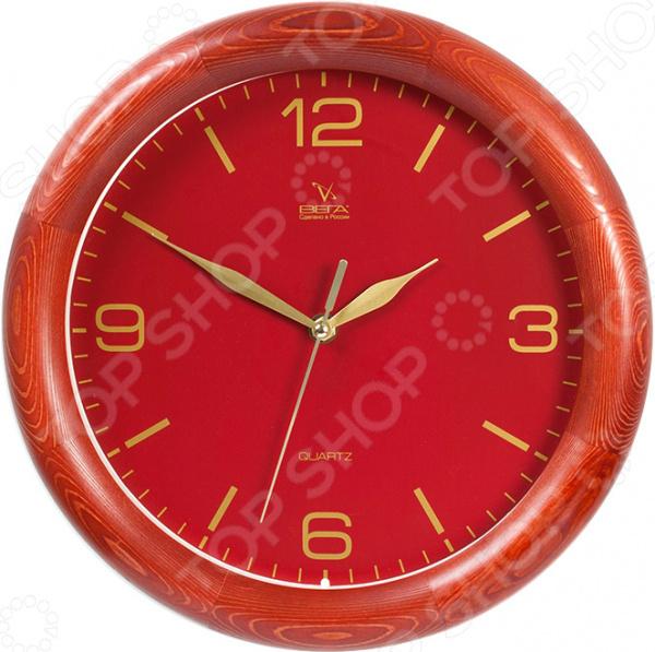 Часы настенные Вега Д 1 КД/7 64 «Классика. Красное дерево»