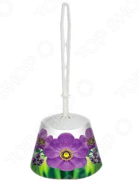 Ёршик для туалета и подставка-конус Violet «Фиалка»