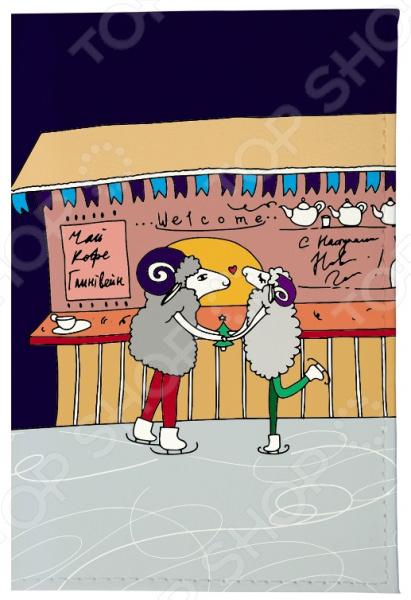 Обложка для автодокументов Mitya Veselkov «Овечки на катке» мобили henglei овечки с батарейками