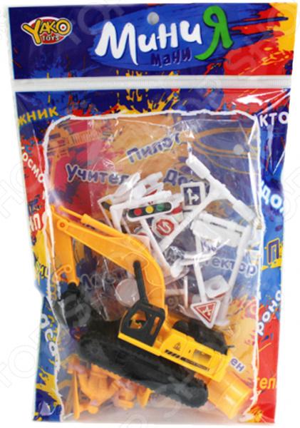 Машина игрушечная с аксессуарами Yako «Строительная техника» 1724720