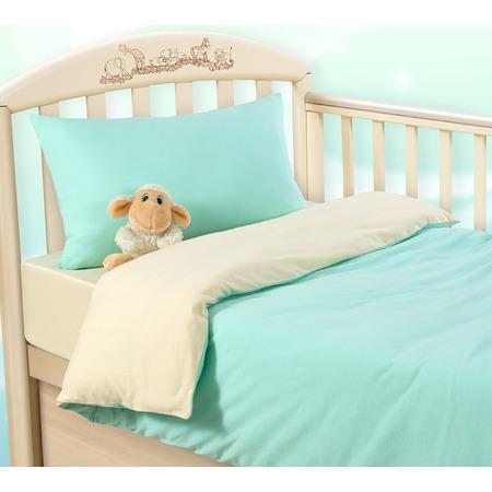 Купить Ясельный комплект постельного белья ТексДизайн «Мятный крем»