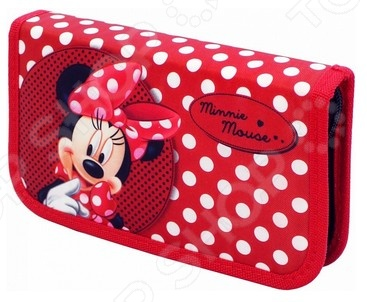 Пенал 1-секционный Disney «Минни»