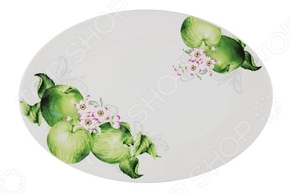 Блюдо Imari «Зеленые яблоки» банка для сыпучих продуктов imari зеленые яблоки im55060 1 a2211al