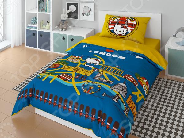 Детский комплект постельного белья Hello Kitty In London комплект постельного белья factory outlet hello kitty