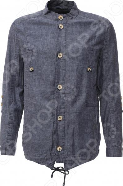 Куртка Finn Flare S16-21008. Цвет: темно-синий 1660sm s16 1nd 3al78894ca