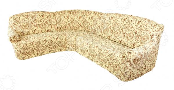 Натяжной чехол на классический угловой диван Еврочехол «Виста. Флоренция»