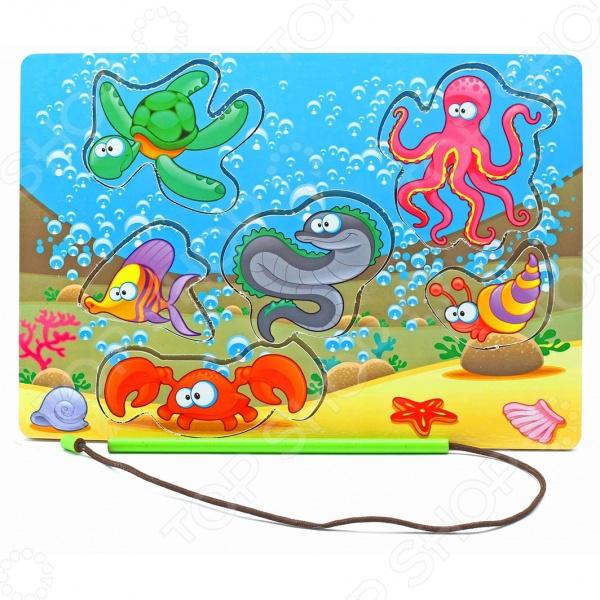 Игра развивающая Мастер игрушек «Рамка-вкладка: Магнитная рыбалка-1» мастер игрушек водоем