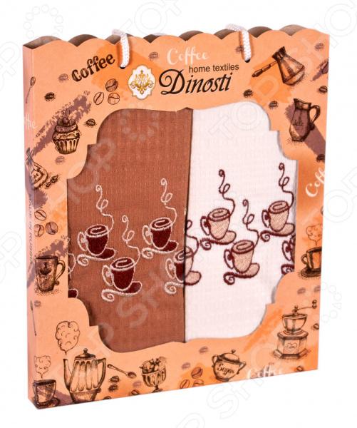 Комплект из 2-х кухонных полотенец Dinosti «Кофемания»