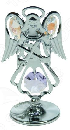 где купить  Фигурка декоративная Crystocraft «Ангел» с кристаллами Swarovski 67457  по лучшей цене
