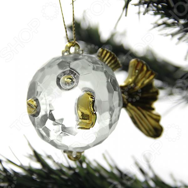 Елочное украшение Crystal Deco «Золотая рыбка»