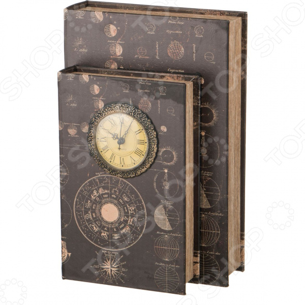 Шкатулка-книга с часами Lefard 184-310 шкатулки patricia шкатулка для медикаментов 16 13 7 26см