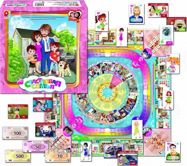 Игра настольная развивающая для детей Радуга «Счастливая семья» настольная игра развивающая радуга самым маленьким малыши и краски с 982
